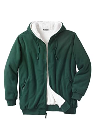 ec8bfd6bb KingSize Men's Big & Tall Explorer Fleece-Lined Hoodie at Amazon Men's  Clothing store: