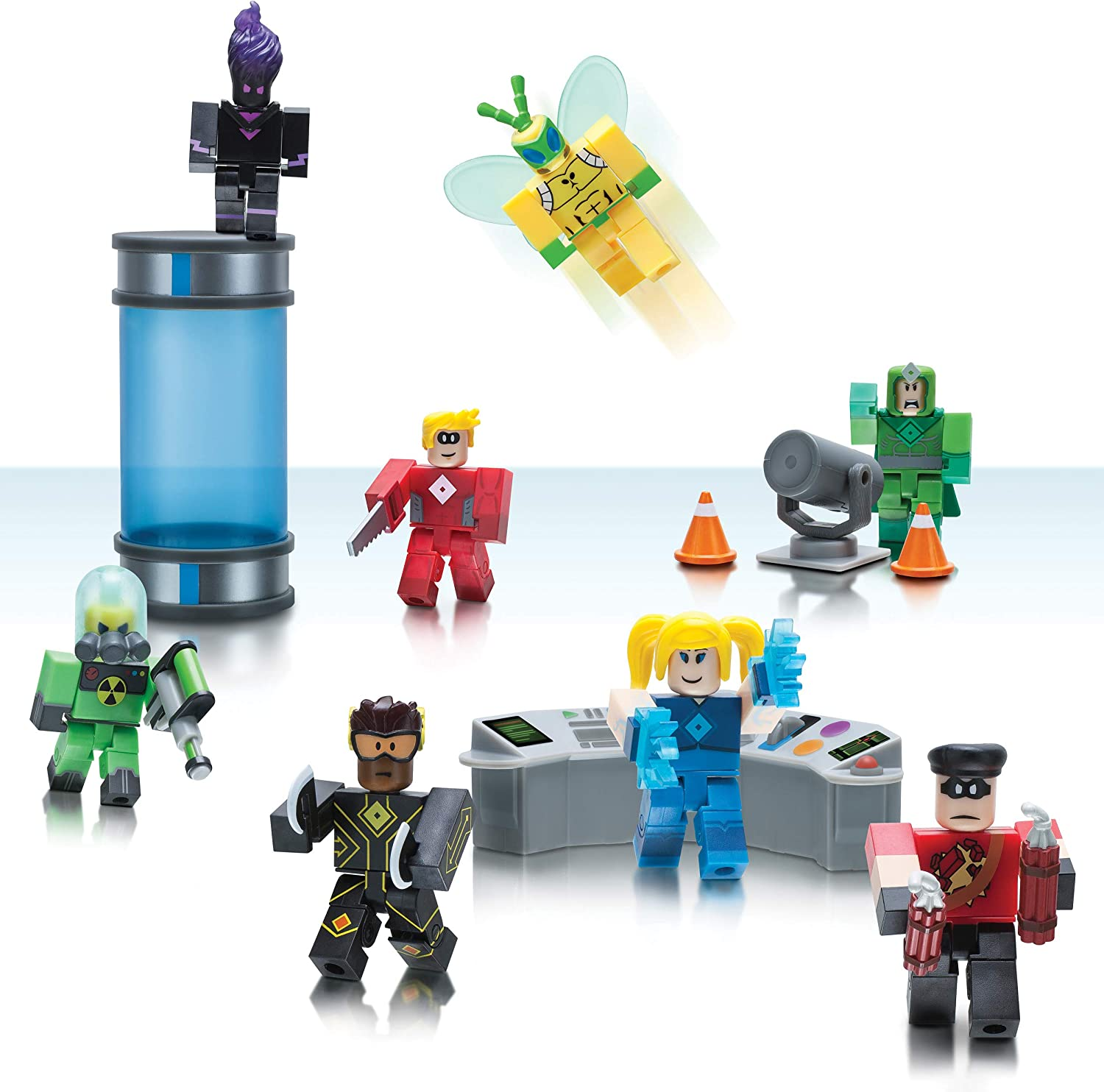 Roblox Universe Event All Items Amazon Com Roblox Action Collection Heroes Of Robloxia Playset Includes Exclusive Virtual Item Toys Games
