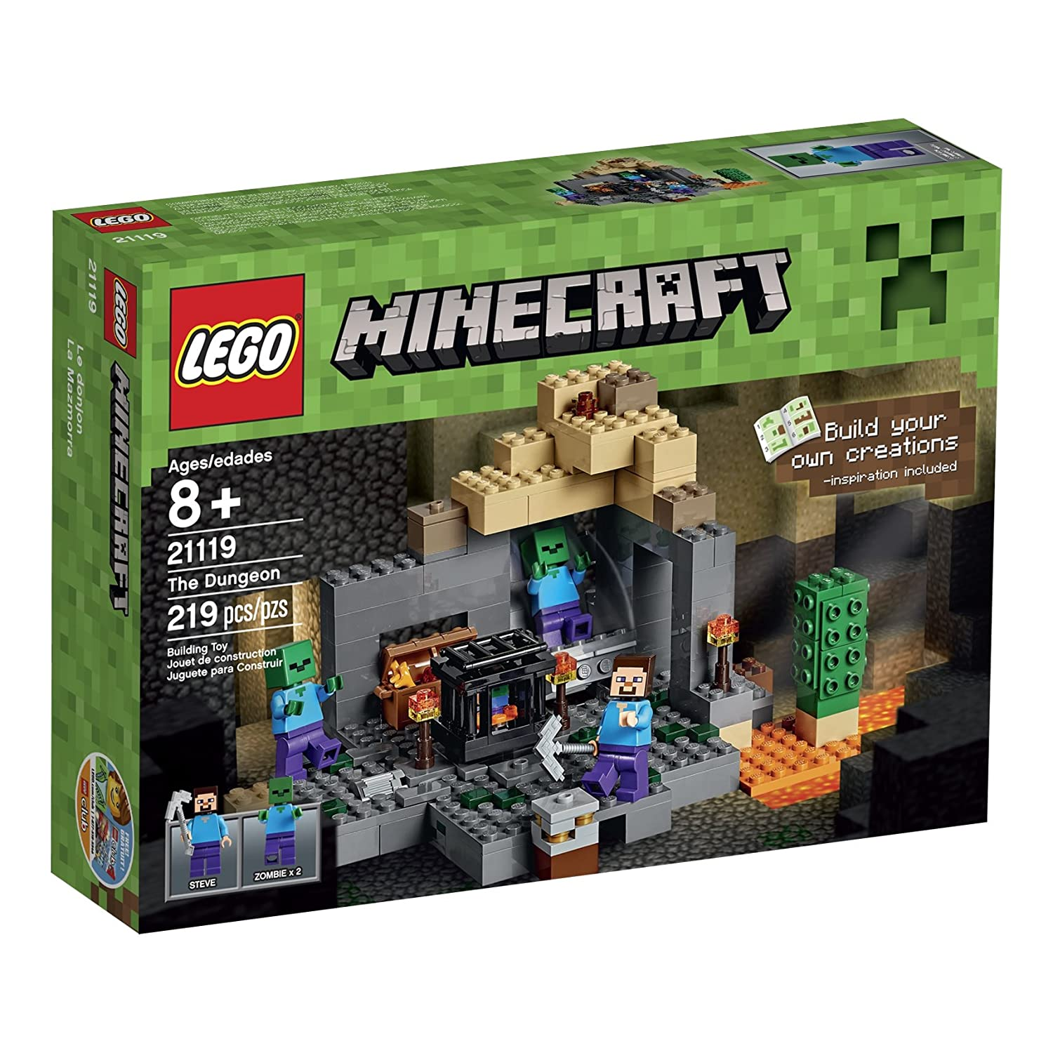 Amazon LEGO Minecraft The Dungeon Toys & Games