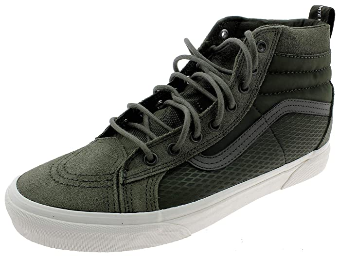 Vans Sk8-Hi High Top Sneaker Damen Herren Kinder Unisex Grün (Army Green)