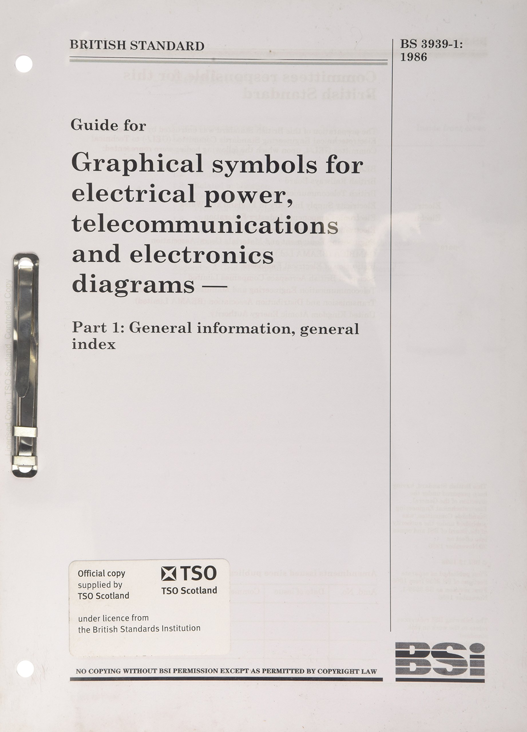 Bs 3939 11986 Graphical Symbols For Electrical Power
