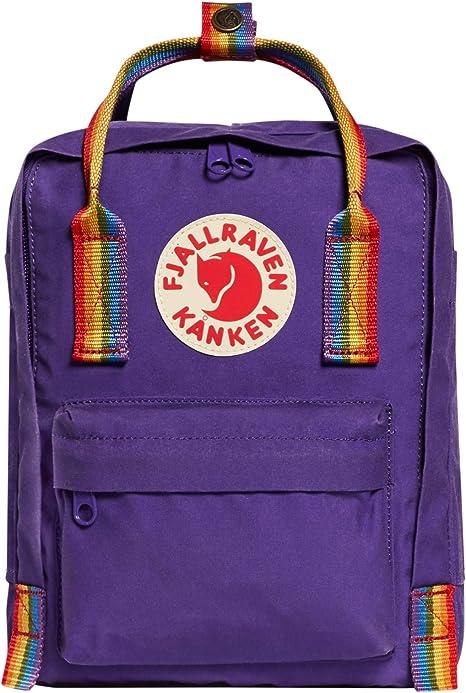 FJÄLLRÄVEN Kånken Rainbow Mini Sac à dos loisir, 29 cm, 7 liters, Violet (Purple Rainbow Pattern)