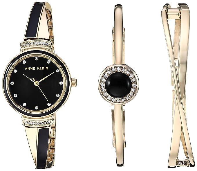 95e18515fdfa Anne Klein Set de reloj y pulsera con cristales Swarovski para mujer ...