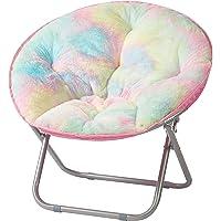 Heritage Kids Sorbet Dreams Rainbow Fur Kids Saucer Chair, 23