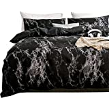 Duvet Cover King, Black and White Duvet Cover Set with Soft and Warm 100% Washed Microfiber, Also as Marble Comforter…