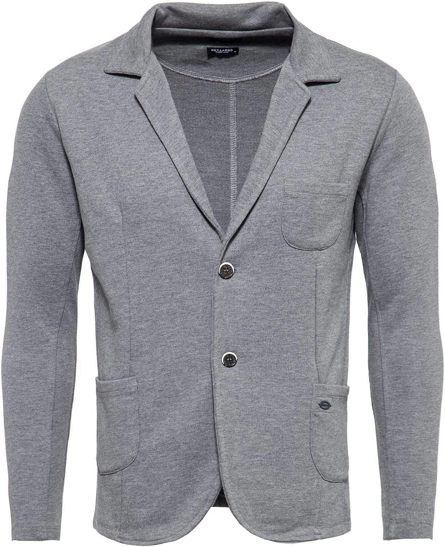 13 KEY LARGO Herren Sweatsakko MSW Bombay Jacket grau L