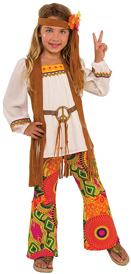60s 70s Kids Costumes & Clothing Girls & Boys Rubies Childs Flower Power Costume Medium $29.98 AT vintagedancer.com