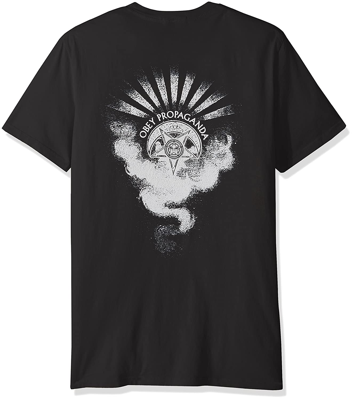 Obey Mens Cult of Dark Smoke Crew Neck T-Shirt