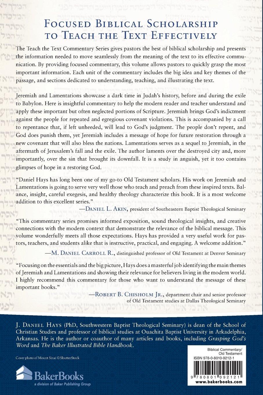 Jeremiah and lamentations teach the text commentary series j daniel hays mark strauss john walton 9780801092121 amazon com books