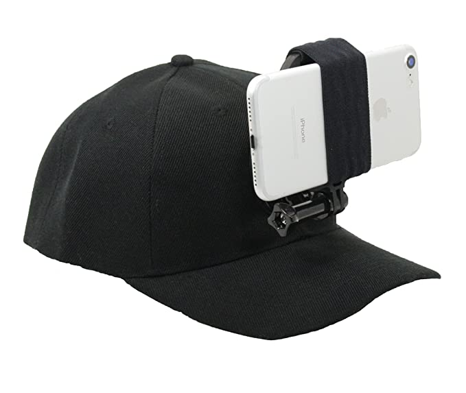 3c0a7121ff0 OCTO MOUNT - Baseball Hat Compatible with Smartphone Cellphone GoPro Camera  Head Mount.