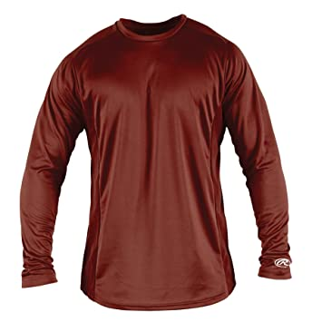 Amazon.com : Rawlings Boy's Long Sleeve Baselayer Shirt : Baseball ...
