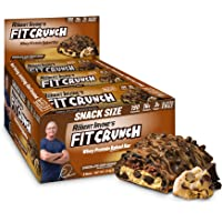 FITCRUNCH Snack Size Protein Bars, Designed by Robert Irvine, World's Only 6-Layer Baked Bar, Just 3g of Sugar & Soft Cake Core (9 Snack Size Bars, Chocolate Chip Cookie Dough)