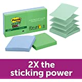Post-it R330-6SST Super Sticky Pop-up Notes, 76x76mm, Bora Bora Collection Recycled, 6 Pads
