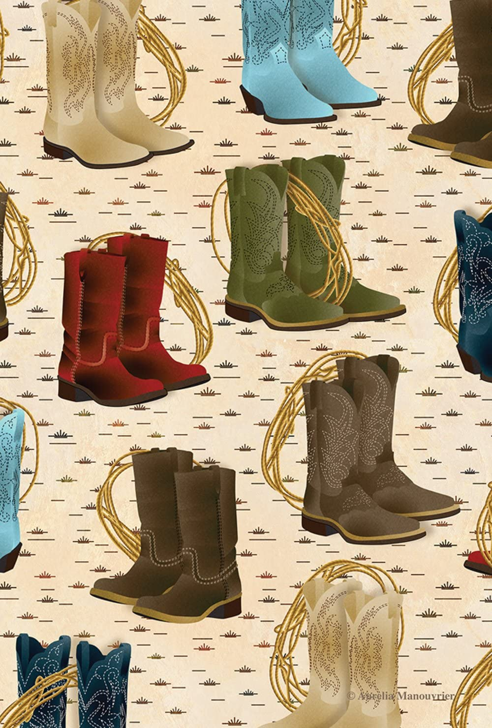Toland Home Garden Country Boots 28 x 40 Inch Decorative Southwest Farm Boot Rodeo Lasso House Flag