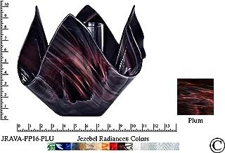 product image for Jezebel Radiance JRAVA-FP16-PLU Glass Vase Lamp, Plum