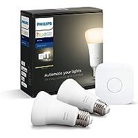 Philips Hue Beyaz Akıllı Başlangıç Seti 2'li E27, 2700Kelvin Sarı Işık (Bluetooth Özelliği de Mevcuttur)