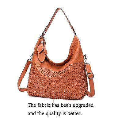 d1dd12ff Amazon.com: Big Sale-Hobo Handbags, PU Leather Purses Tote Cross Body  Shoulder Bags Bucket Bag for Women Office (Brown2): Shoes