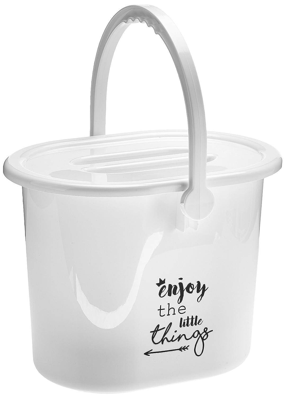 Bébé-jou - Contenedor para pañales, color blanco blanco Lucky quotes weiß 6161105