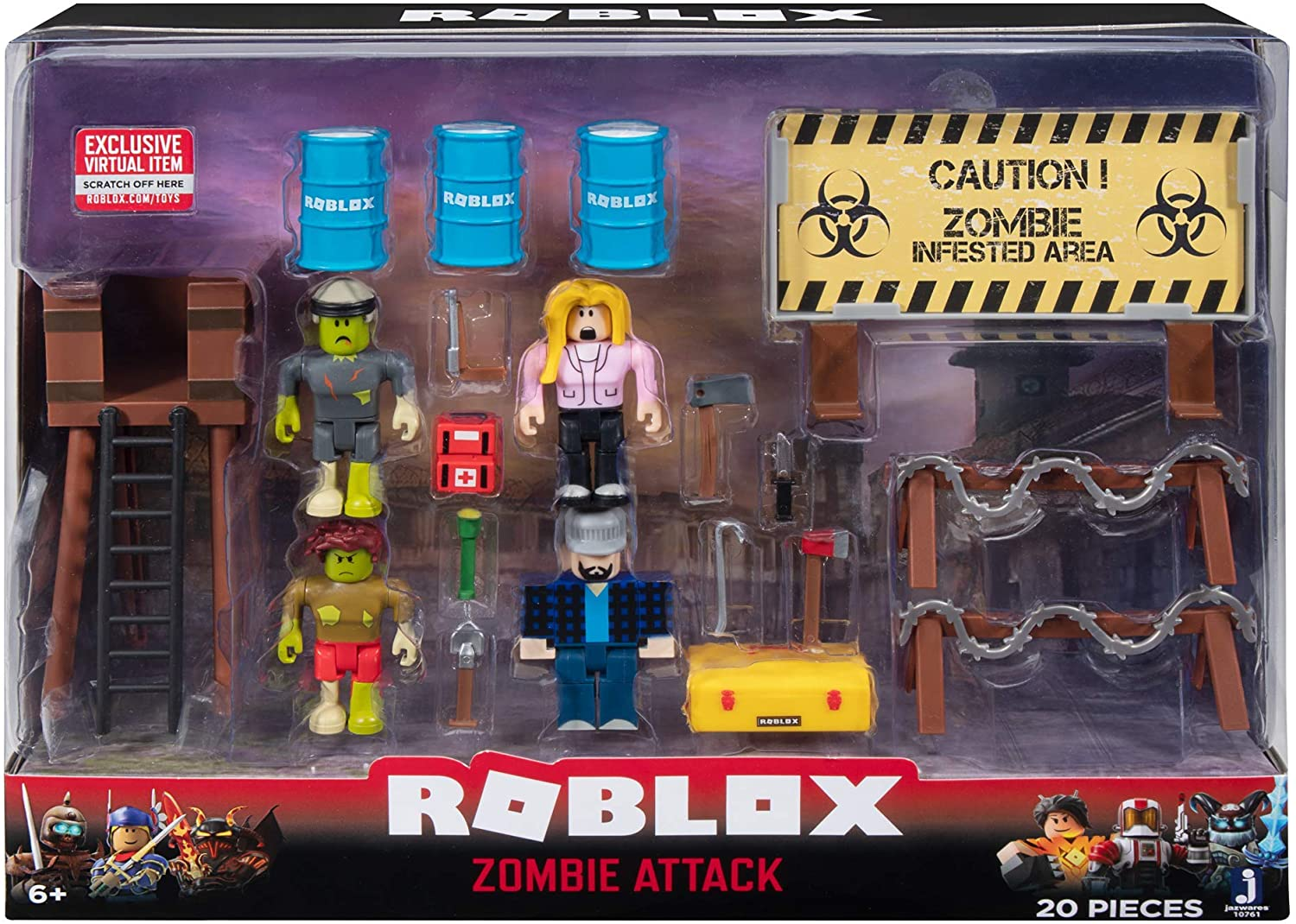 Amazon Com Roblox Action Collection Zombie Attack Playset