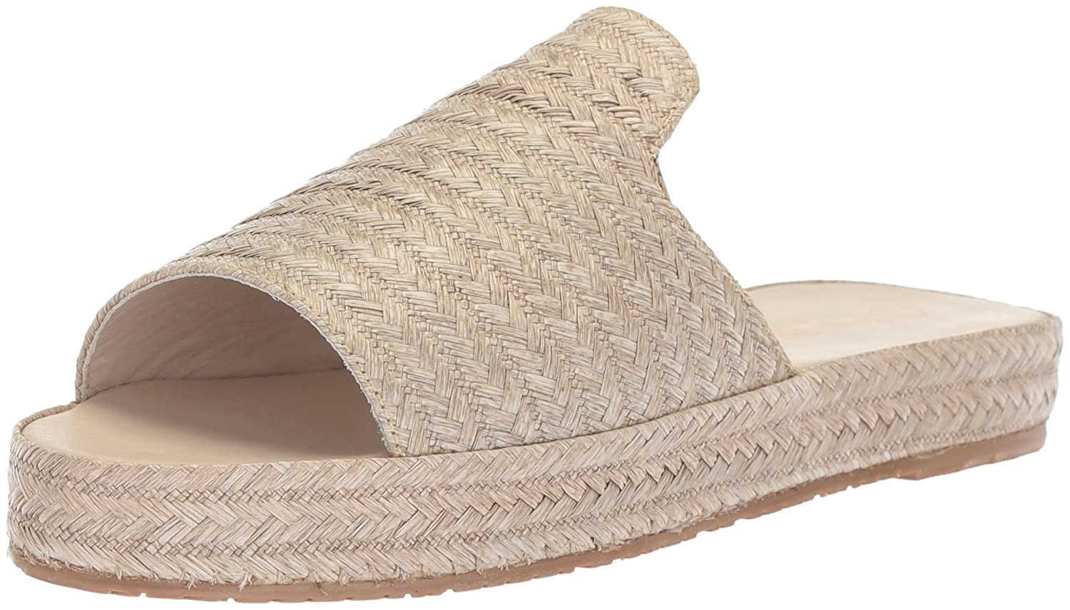 KAANAS Women's Martinique Woven Espadrille Flat Pool Slide Sandal B076FLVRW9 8 B(M) US|Grey