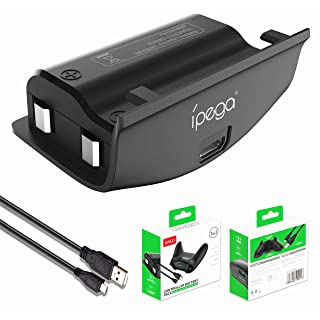 DoinMaster Xbox One Battery Pack 1 x 1400mAh (ipega) Rechargeable Battery and Micro USB Charging Cable for Xbox One/Xbox One S/Xbox One X/Xbox One Elite Wireless Controller
