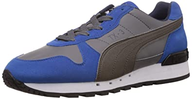 more photos 1d7fe 4812d Puma Men s TX-3 Charcoal Grey, Blue and Steel Grey Running Shoes - 7