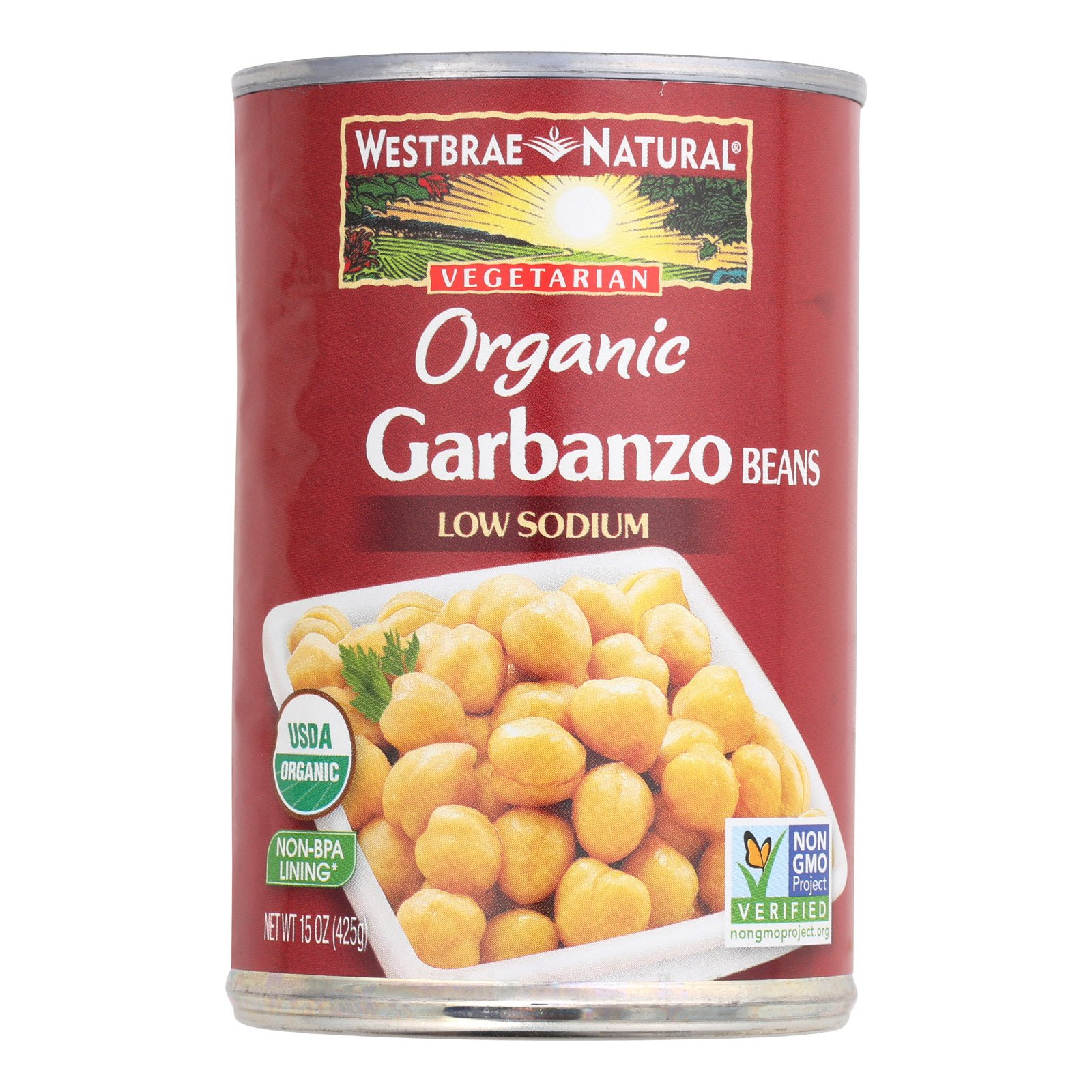 Westbrae Foods Organic Garbanzo Beans - Case of 12-15 oz.