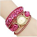 Aelo Pink Bracelet Analogue Gold Dial Girls Watch-Uww2021