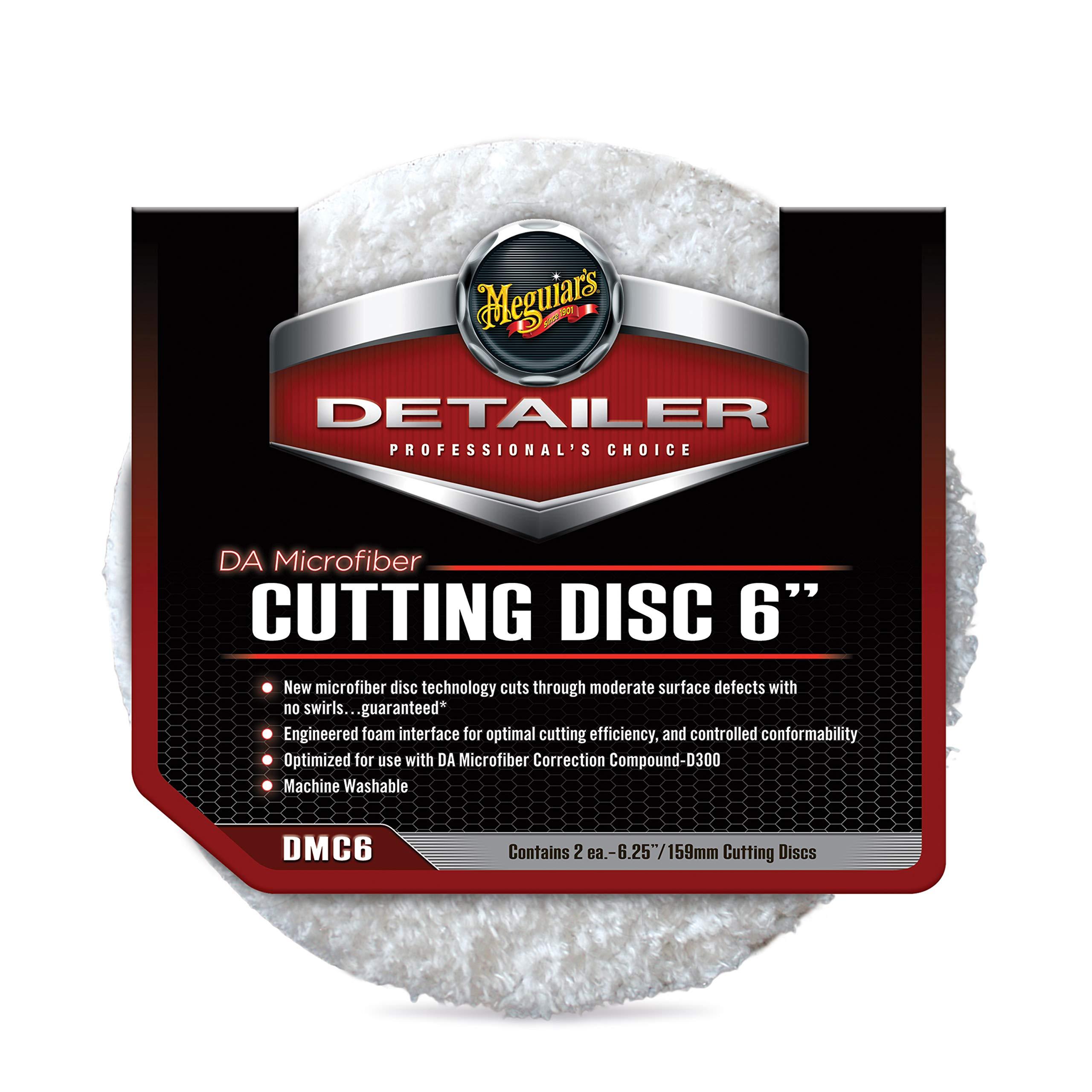 """Meguiar's DMC6 DA 6"""" Microfiber Cutting Disc, 2 Pack , White"""