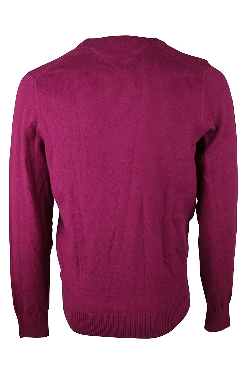 Tommy Hilfiger Men's Crew Neck Sweater Maroon XXL at Amazon Men's ...
