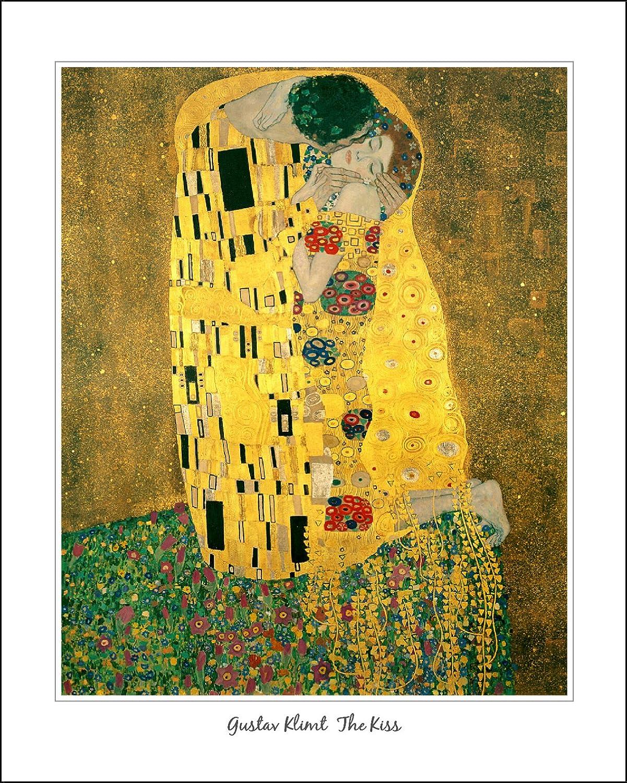 Art Print Gustav Klimt The Kiss High Res Poster Painting. UNFRAMED... PRINT  ONLY ref043: Amazon.co.uk: Kitchen & Home