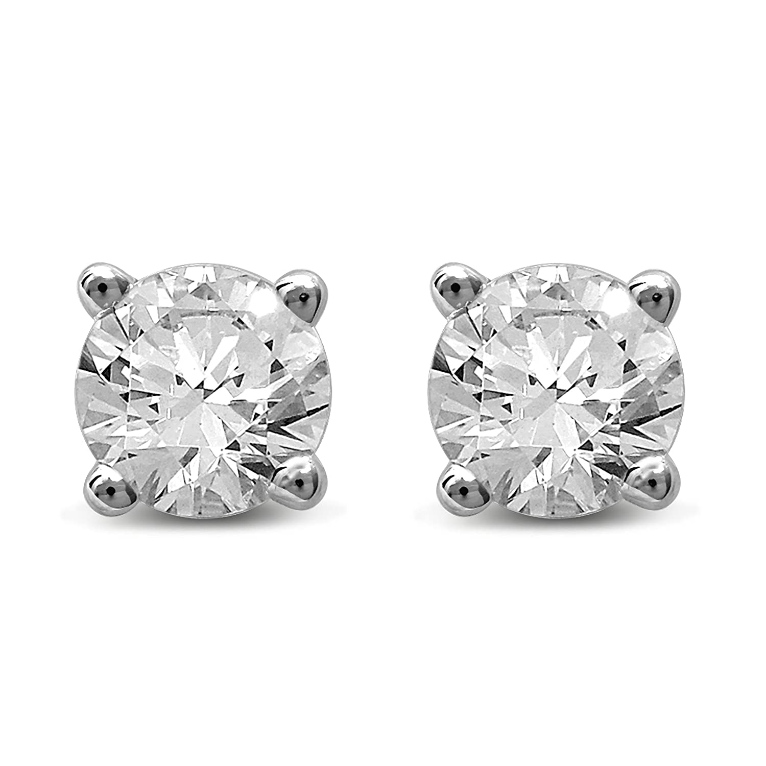 stud auriya to prong watches jewelry brown overstock shipping gold product free white chocolate tdw today diamond earrings