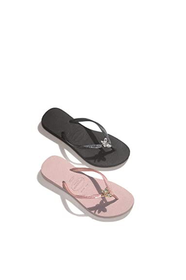ac6d13c69f79 Havaianas SLIM SWAROVSKI CRYSTAL DRAGONFLY Special Collection Premier Rose  Gold Pink Womens Flip Flops Sandals UK 6-7  Amazon.co.uk  Shoes   Bags