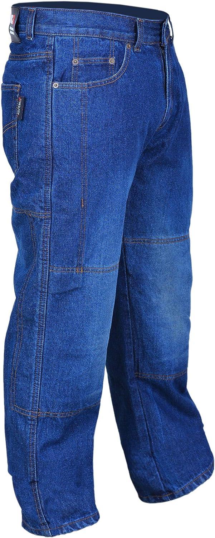 RAC3 Original Mens Motorbike Protective Black /& Blue Denim Armoured Lining Jeans Trousers