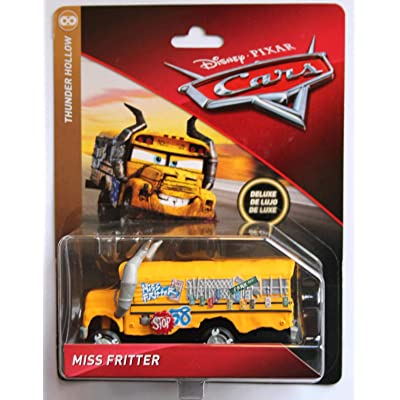 Disney Cars 3 DieCast Deluxe Thunder Hollow Miss Fritter School Bus: Toys & Games
