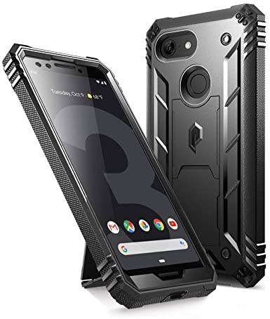 purchase cheap 65648 87468 Google Pixel 3 Kickstand Rugged Case, Poetic Revolution [360 Degree  Protection] Full-Body Rugged Heavy Duty Case with [Built-in-Screen  Protector] for ...