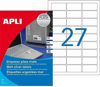Apli 10070 - Etiquetas, 20 hojas: Amazon.es: Oficina y papelería