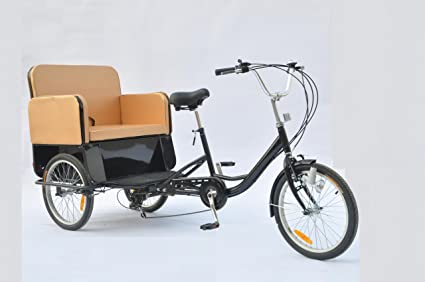 bee5a5782fe Amazon.com : New Adult Rickshaw with Pedicab. 6 Gear Shimano : Road ...