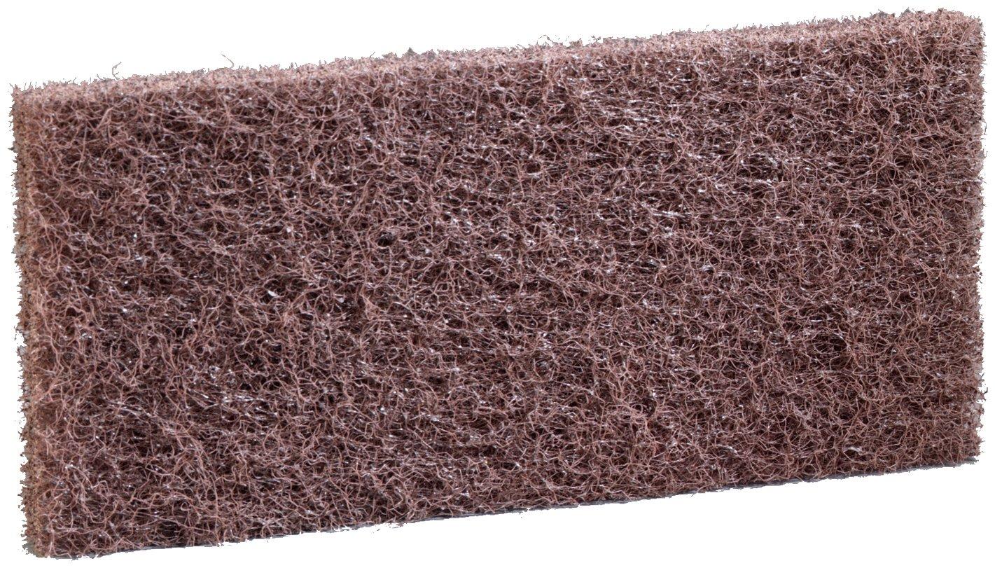 3M Doodlebug Brown Scrub `n Strip Pad 8541, 4.625'' x 10'' (4 Boxes of 5)
