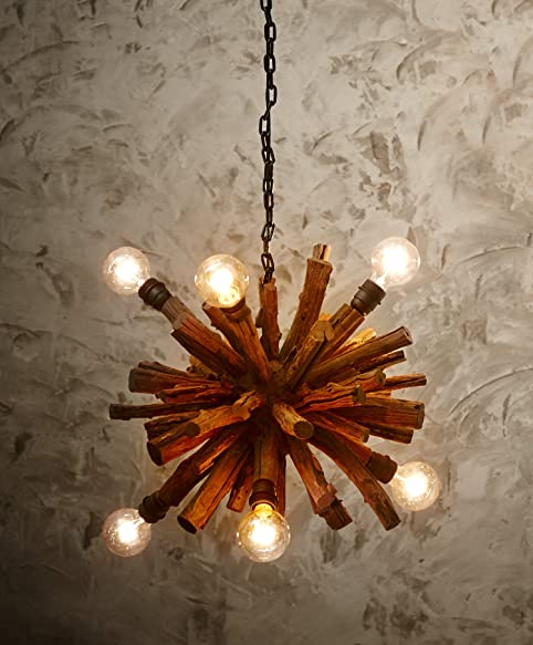 OTHENTIQUE Driftwood Branch Ball Chandelier