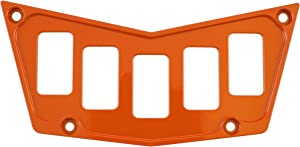 STVMotorsports Custom Aluminum Dash Panel for Polaris RZR XP 900 800 S570 with 5 Switch Slots (no switches Included) (Orange)