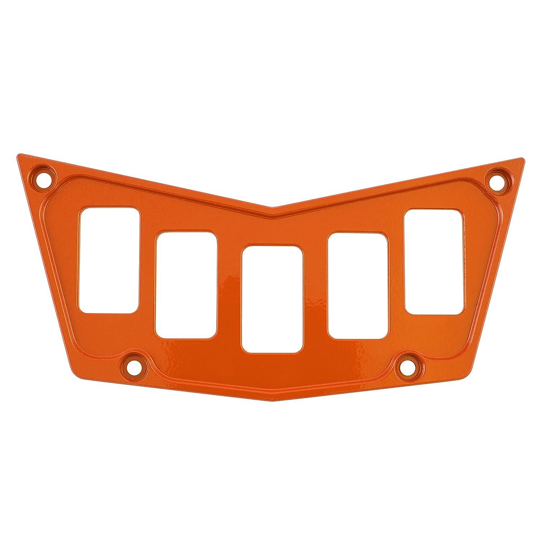 Polaris CNC Billet Aluminum 2014 Orange Dash Switch Panel Plate Part RZR XP1000