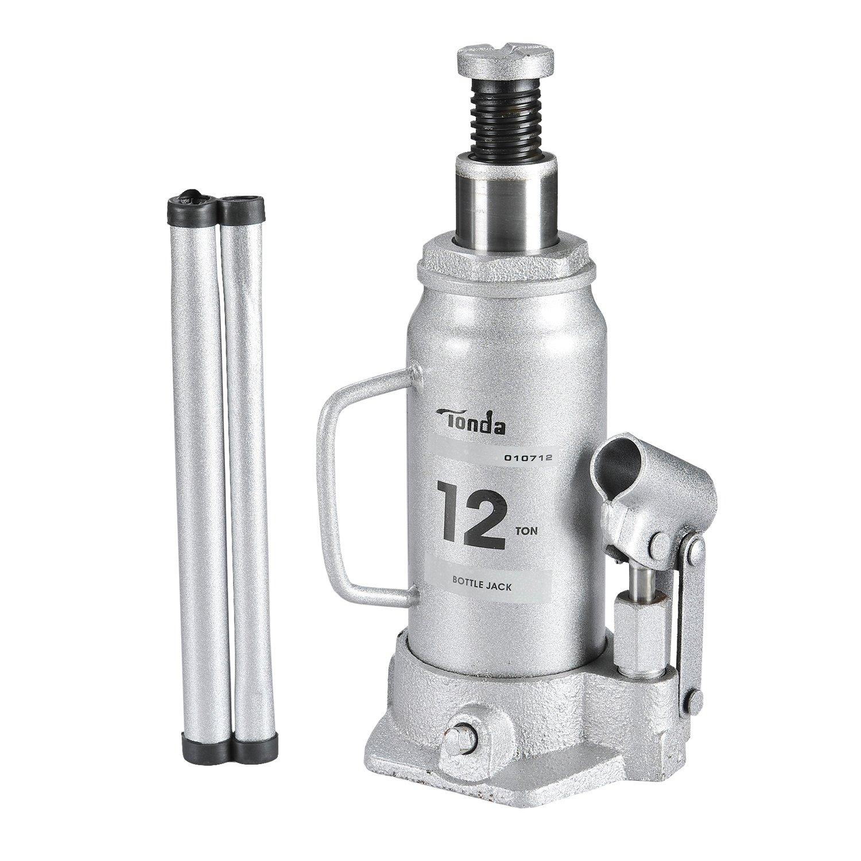 TONDA Hydraulic Bottle Jack, 12 Ton Capacity