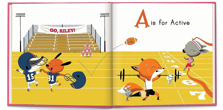Keepsake Personalized Custom Name Book for Kids Self Esteem Confidence ABC Alphabet
