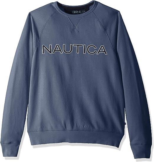 TALLA XL. Nautica Fleece Graphic Crew Sudadera para Hombre