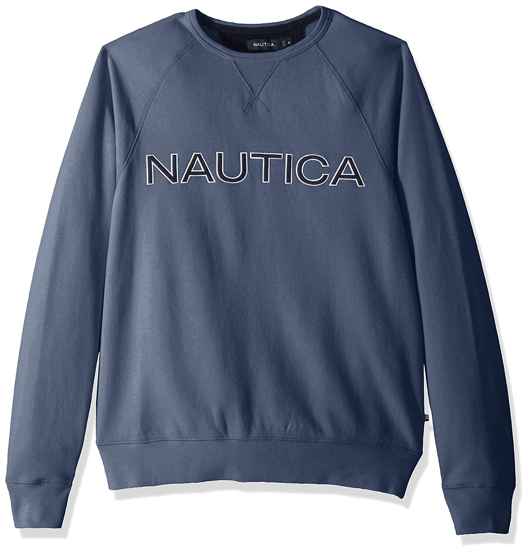 Nautica Fleece Graphic Crew Sudadera para Hombre