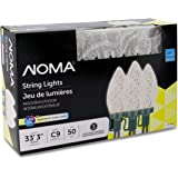 "NOMA LED Christmas Lights | 50-Count C9 Clear Warm White Bulbs | 33' 3"" String Light 