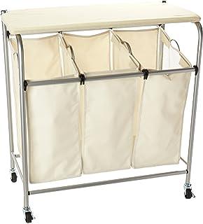 honeycando srt01196 rolling ironing and sorter combo laundry center