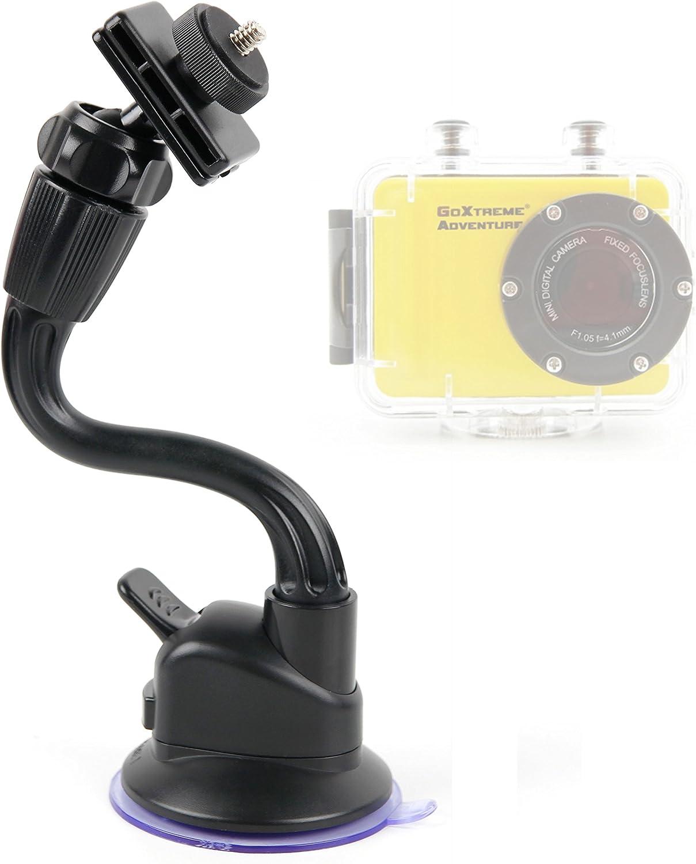DURAGADGET in Car Anti-Shake Flexible Arm Suction Mount Suitable for The Easypix GoXtreme Adventure GoXtreme Race Mini Action Cameras