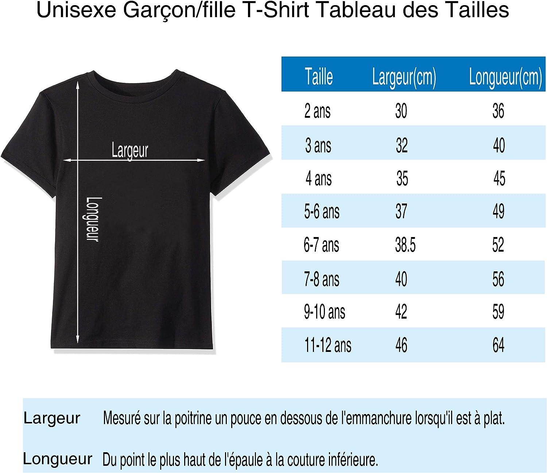 Venchiemg Homme//Femme//Unisexe des Gamins Gar/çon//Fille Classic Logo T Shirt